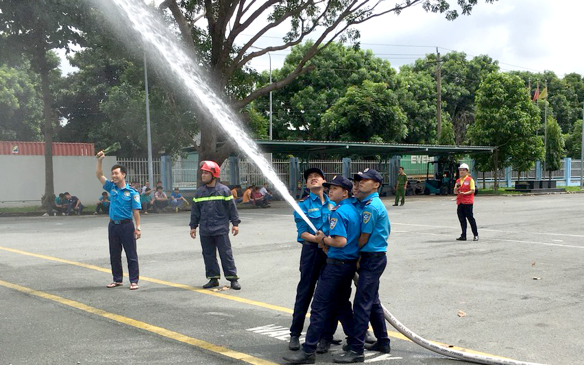Firefighting rehearsal at TOA Paint Company Vietnam