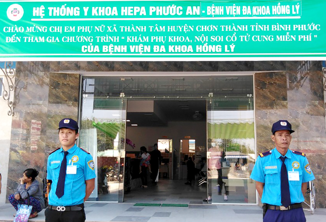 NDS Provides Professional Security Services at Hong Ly General Hospital